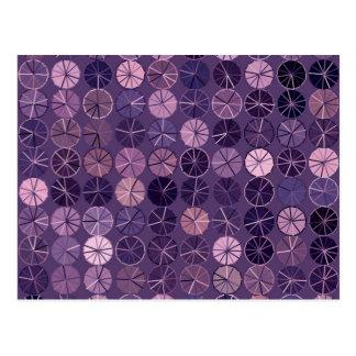 Sombras del extracto púrpura postales