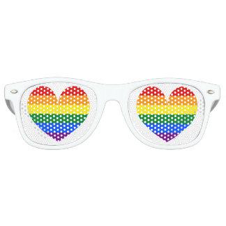 Sombras del fiesta del símbolo del corazón del lentes de fiesta