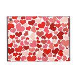 Sombras del fondo rosado y rojo de los corazones iPad mini coberturas