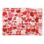 Sombras del fondo rosado y rojo de los corazones iPad mini cobertura