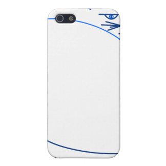 Sombras del gato minimalista azul (caja de la mota iPhone 5 carcasas