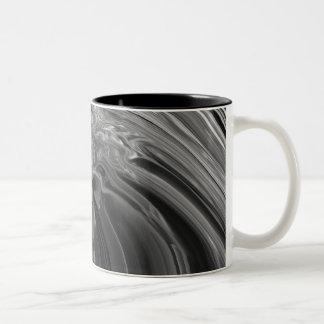 Sombras del gris taza de dos tonos