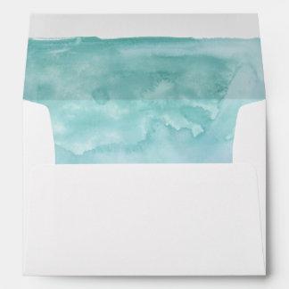 Sombras del interior de la acuarela del azul de sobre