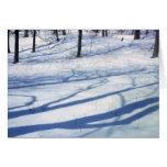 Sombras del invierno tarjetas