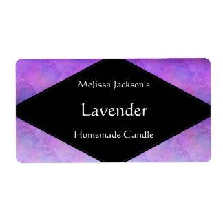 Sombras del jabón o de la vela púrpura etiquetas de envío