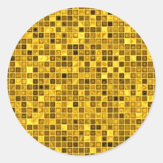 "Sombras del modelo ""acuoso"" amarillo oscuro de las etiquetas redondas"