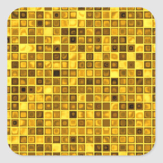 """Sombras del modelo """"acuoso"""" amarillo oscuro de las pegatina cuadradas personalizada"""