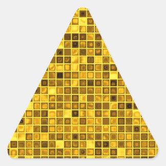 """Sombras del modelo """"acuoso"""" amarillo oscuro de las calcomania de trianguladas"""