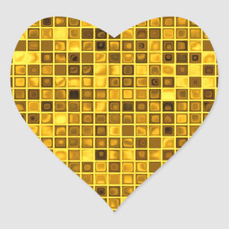 """Sombras del modelo """"acuoso"""" amarillo oscuro de las calcomanías de corazones"""
