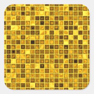 """Sombras del modelo """"acuoso"""" amarillo oscuro de las pegatina cuadrada"""