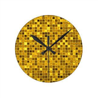 """Sombras del modelo """"acuoso"""" amarillo oscuro de las reloj redondo mediano"""