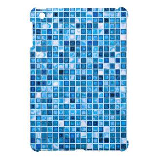 """Sombras del modelo """"acuoso"""" azul de las tejas de m iPad mini funda"""