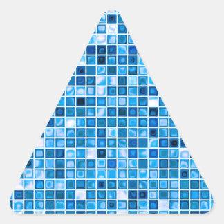 Sombras del modelo acuoso azul de las tejas de m calcomania triangulo personalizadas
