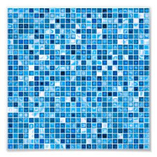 """Sombras del modelo """"acuoso"""" azul de las tejas de m fotografía"""