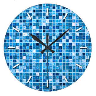 """Sombras del modelo """"acuoso"""" azul de las tejas de m relojes de pared"""
