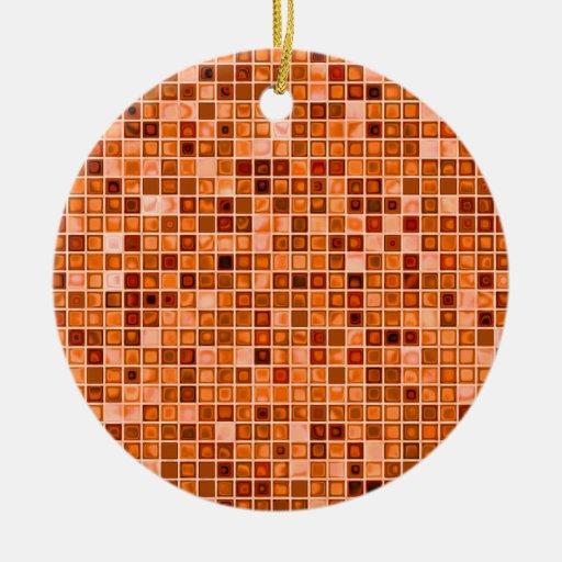 """Sombras del modelo """"acuoso"""" de cobre de la teja de adorno redondo de cerámica"""