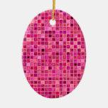 """Sombras del modelo """"acuoso"""" rosado de la teja de ornamentos de navidad"""