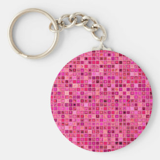 """Sombras del modelo """"acuoso"""" rosado de la teja de m llavero redondo tipo pin"""