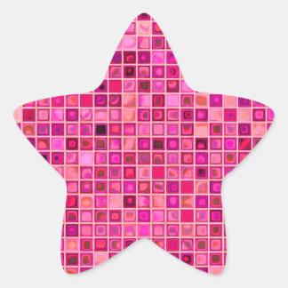 """Sombras del modelo """"acuoso"""" rosado de la teja de pegatina en forma de estrella"""