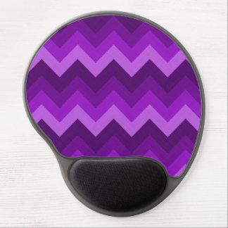 Sombras del modelo de zigzag púrpura de LG Hombre Alfombrillas De Ratón Con Gel