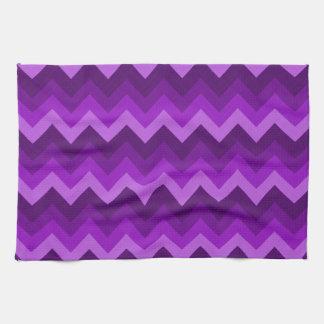 Sombras del modelo de zigzag púrpura de LG Hombre Toallas De Cocina