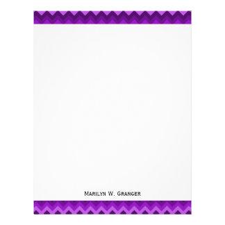 Sombras del modelo de zigzag púrpura de LG Hombre Plantilla De Membrete