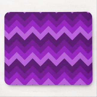 Sombras del modelo de zigzag púrpura de LG Hombre Tapetes De Ratones
