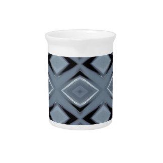Sombras del modelo geométrico moderno gris jarra de beber