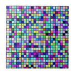 Sombras del modelo multicolor de los cuadrados de  azulejo cuadrado pequeño