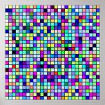 Sombras del modelo multicolor de los cuadrados de  impresiones