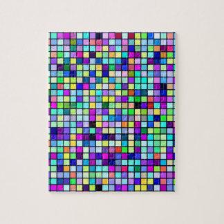 Sombras del modelo multicolor de los cuadrados de puzzles con fotos