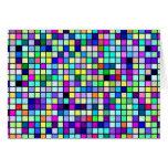Sombras del modelo multicolor de los cuadrados de  tarjeta
