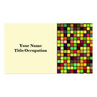 Sombras del modelo multicolor de los cuadrados del tarjetas de visita