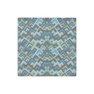 Sombras del modelo simétrico de las ojeadas del imán de piedra