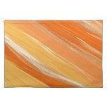 Sombras del naranja mantel