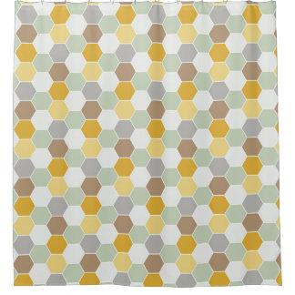 Sombras del oro, blanco, modelo gris del panal cortina de baño