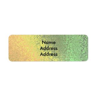 Sombras del otoño del laboratorio amarillo verde etiquetas de remite