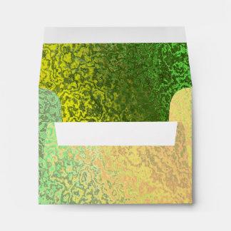 Sombras del otoño del sobre amarillo verde de la