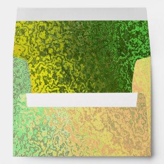 Sombras del otoño del sobre clásico verde y