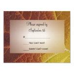 Sombras del otoño que casan la tarjeta de la invitación personalizada