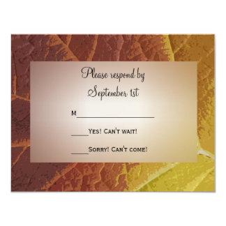 Sombras del otoño que casan la tarjeta de la invitación 10,8 x 13,9 cm