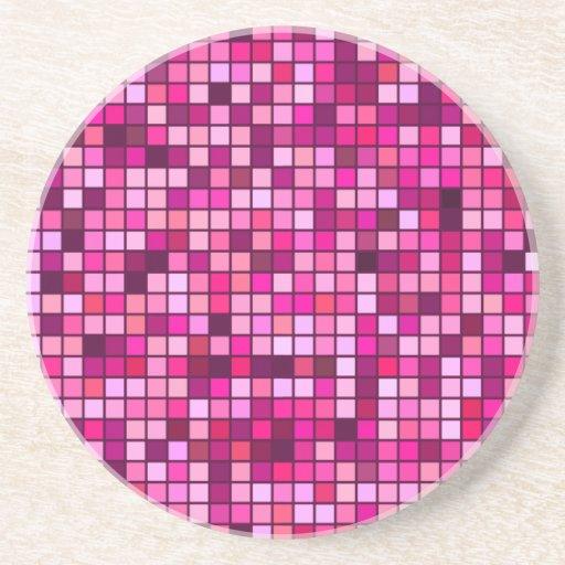 Sombras del rosa con el modelo de las casillas neg posavasos cerveza