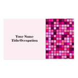 Sombras del rosa con el modelo de las casillas plantillas de tarjetas personales