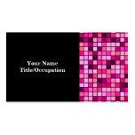 Sombras del rosa con el modelo de las casillas tarjetas de visita