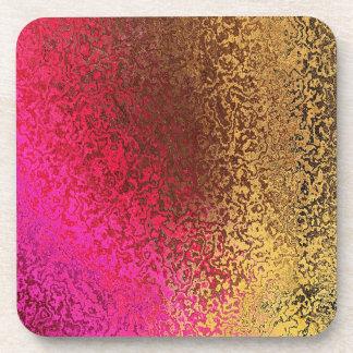Sombras del rosa y del práctico de costa abstracto posavasos de bebida