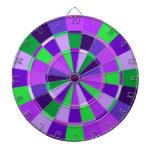 Sombras del sitio de juego púrpura y verde tablero de dardos