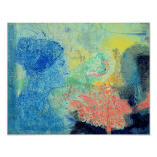 Sombras del sueño (en colores pastel en el papel póster