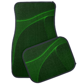 Sombras del verde eléctrico de la aurora alfombrilla de coche