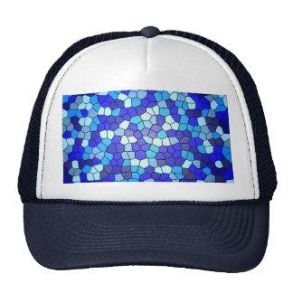 Sombras del vitral azul gorros bordados