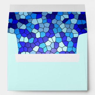 Sombras del vitral azul
